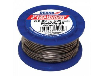 Spájkovací cín s tavidlom,2.0mm, 200g, 40%SN, Pb60Sn40 - 31L42020