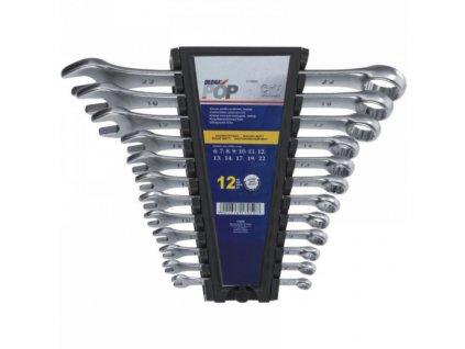Sada očko-vidlicových  kľúčov 8 ks CrV  8, 10, 12, 13,  14, 17, 19, 22 mm