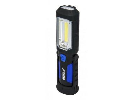 Nabíjacia lampa 3 W COB LED + 1 W LED, USB adaptér na 230 V