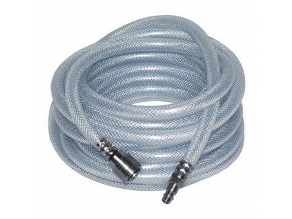 Vystužená hadica 7,5m PCV 9,5x15mm, rýchlospojka na stlačený vzduch