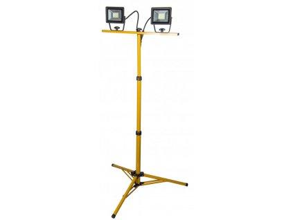Dielenská lampa 2X30W SMD LED, ALU panel, statív,IP65