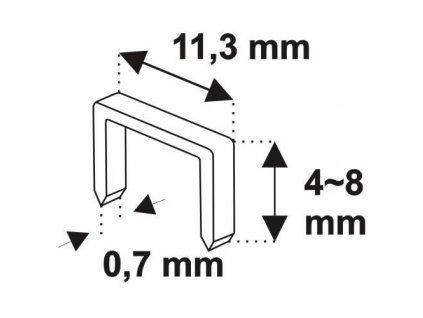 Zošívačka    4-8 mm, hrúbka spony 0,7mm