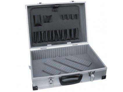 Hliníkový kufor 460x325x150 mm strieborný