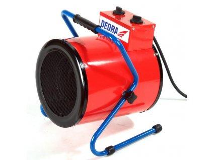 Ohrievač elektricky vzduchu 1650/3300W, termostat, funkcia ventilátora, kruhový - DED9931