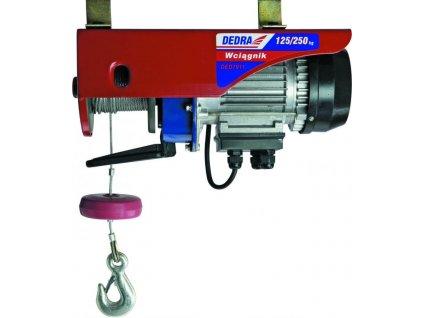 Elektrické zdvíhacie zariadenie lanové 550W, 250/kg/6m; 125/kg/12m
