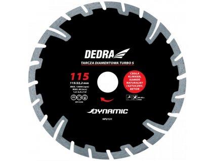 Kotúč diamantový seg. Turbo Dynamic 230x22,2mm DEDRA