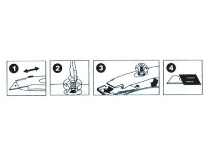 Nôž kovový -stop čepeľ - zahnutý