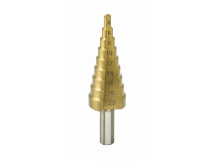 Stupňovitý vrták 4-20mm, HSS, TiN
