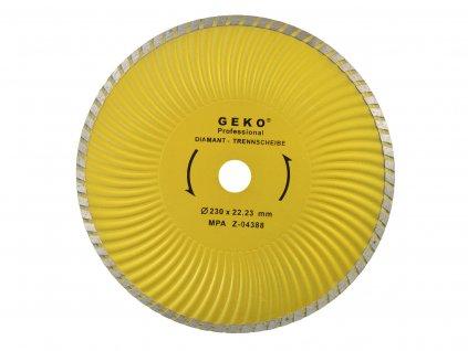 Diamantový kotúč 230 turbo plus GEKO PROFI (25/50)