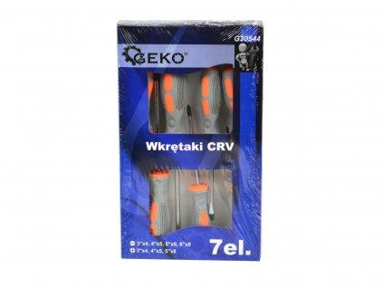 Skrutkovače CRV 7-dielne GEKO (šedo-oranžové) (24)