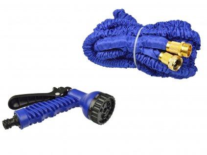 Záhradná hadica stretch 5m-15m PREMIUM (dvojité opletenie) kovové kovanie + pištoľ (36)