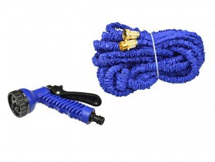 Záhradná hadica stretch 10m-30m PREMIUM kovové dvojité opletenie + pištoľ (20)