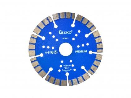 Diamantový kotúč, turbo GEKO PREMIUM 125x10x22,2 mm (100)