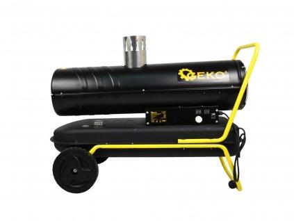 Naftový ohrievač vzduchu s priamym spaľovaním 40 kW, termostatom a komínom
