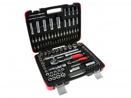 """Sada profesionálnych nástrčných kľúčov 108 ks. 1/4 """"-1/2"""" 25GW (4)"""