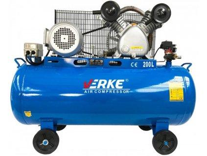 Olejový kompresor dvoupístý 200L, 5,5KS, VERKE V81126