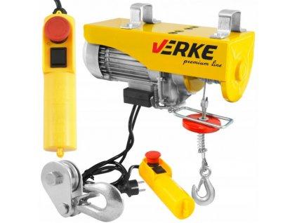 Elektrický lanový navijak 230V 125 / 250kg, VERKE V06050