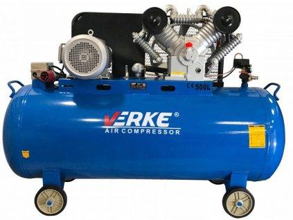 Olejový kompresor čtyřpísty 500L, 10KS, VERKE V81130