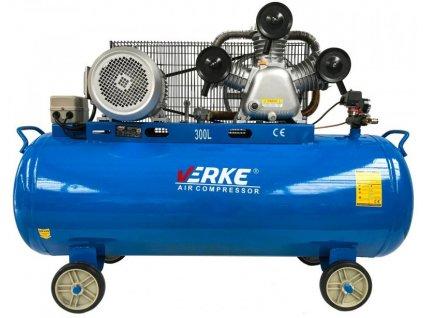 Olejový kompresor třipísty 300L, 10KS, VERKE V81129