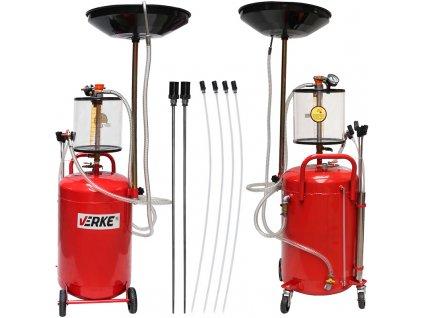 Olejová jímka pre vypúšťanie oleja 70l, VERKE V86351