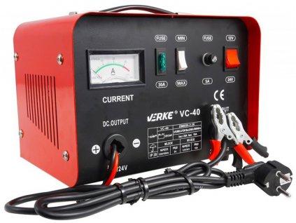 Nabíjačka akumulátora 12 / 24V, 20A, VERKE V80003