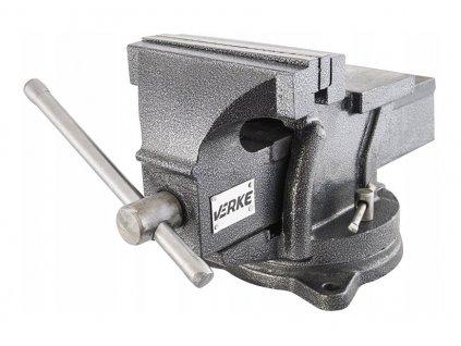 Zverák s otočnou základňou a kovadlinou 200mm, VERKE V88003