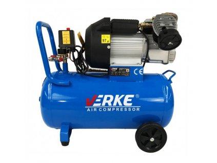 Olejový kompresor 50l, dvojpiestový, 3KS, VERKE V81104