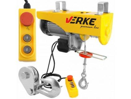Elektrický lanový navijak 230V 500 / 1000kg, VERKE V06053