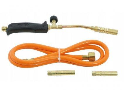 Plynový spájkovací horák PB + 3 koncovky, VERKE V07452