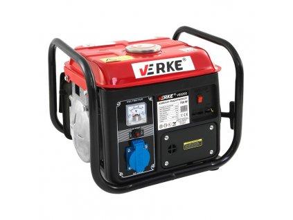 Benzínová elektrocentrála 1,5kW / 2HP, 750W, VERKE V60200