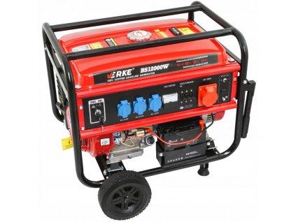 Benzínová elektrocentrála 12kW / 15HP, 12V / 230V / 400V automatický štart, VERKE V60210