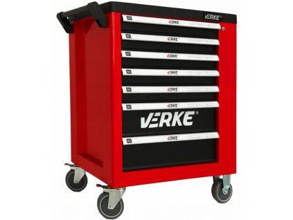 Montážny vozík 7 zásuviek so skrinkou