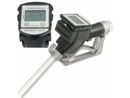 Tankovacia pištoľ s LCD digitálnym prietokomerom paliva a oleja