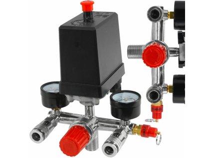 Tlakový spínač na kompresor 380/400V 12 bar