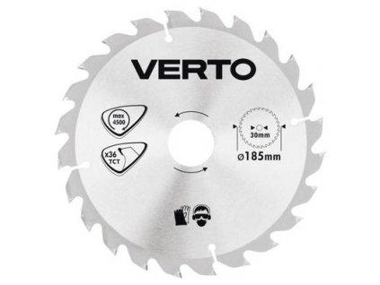 Pílový kotúč tvrdokov 185 x 30 mm, 36 zubov VERTO  61H123