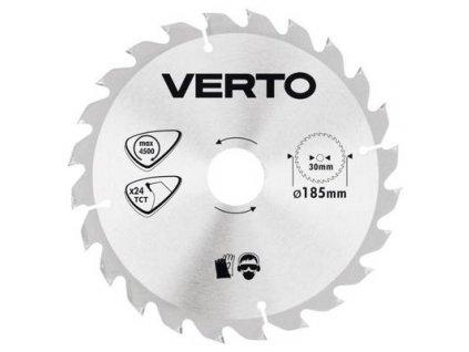 Pílový kotúč tvrdokov 185 x 30 mm, 24 zubov VERTO  61H121