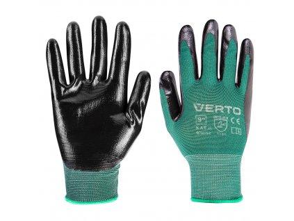 """Záhradné rukavice, potiahnuté nitrilom, veľkosť 9 """" VERTO  97H152"""