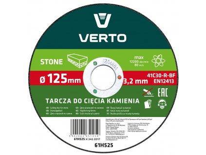 Rezací kotúč na kameň, 125 x 3,2 x 22.2 mm VERTO  61H525