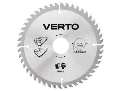 Pílový kotúč  tvrdokov 160 x 30 mm , 48 zubov VERTO  61H105