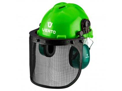 Ochranný štít s cháničom na uši a sieť. štítom, 3v1 VERTO  97H300
