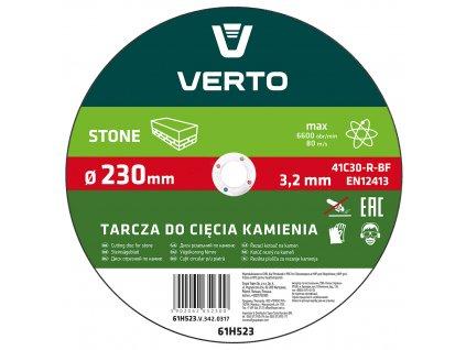 Rezací kotúč na kameň, 230 x 3,2 x 22.2 mm VERTO  61H523