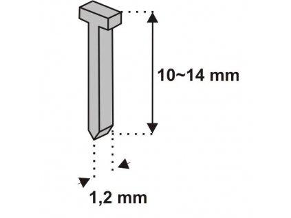 Klince do zošívačky, tvar T, 10x1,2mm, 1000ks DEDRA - 11Z310