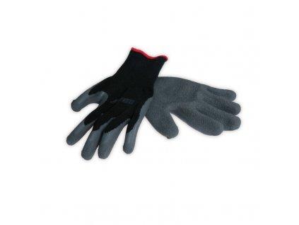 Pracovné rukavice pletené potiahnuté trvanlivou gumou