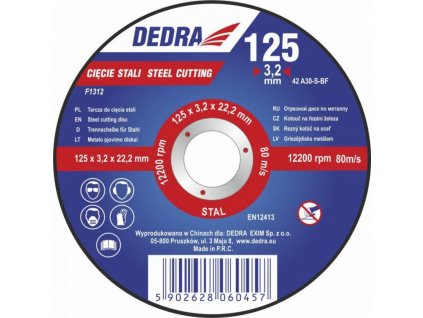 Kotúč rezný na oceľ 125x3,2x22,2 mm