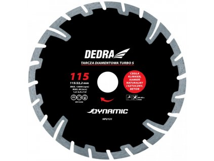 Kotúč diamantový seg. Turbo Dynamic 115x22,2mm DEDRA