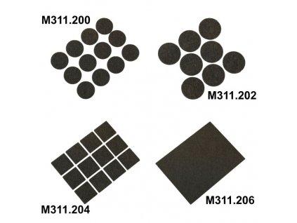 Samolepiace plsťové podložky 12ks - M311.200