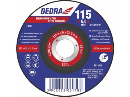 Kotúč rezný na oceľ 115x6x22,2 mm