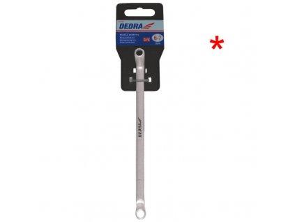 Kľúč 10x11mm, očkový-vyhnutý DEDRA