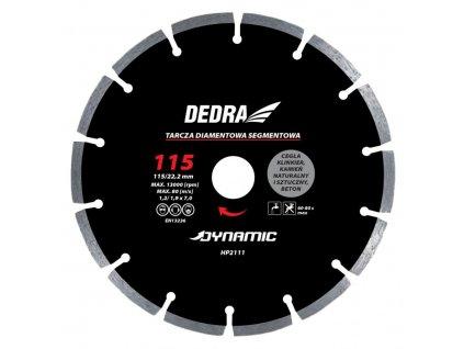 Kotúč diamantový seg. Dynamic 115x22,2mm DEDRA