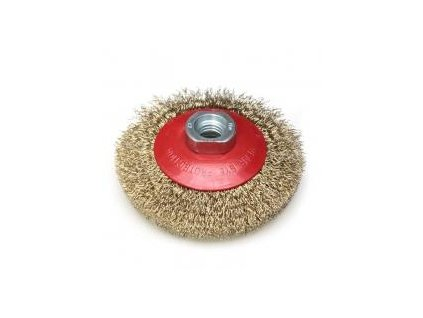Brúsny kefový kotúč 115 mm, miskový, mosadzný